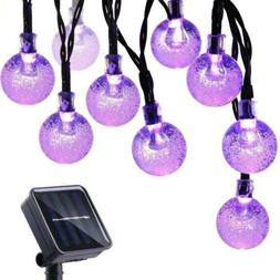 Icicle Halloween Solar String Lights, 20ft 30 LED Outdoor Gl