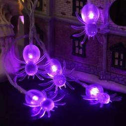 YUNLIGHTS Halloween Spider String Lights, Battery Operated 1