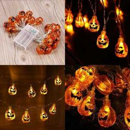 Halloween String Lights 9.51Ft 20 LED Pumpkin Battery Powere