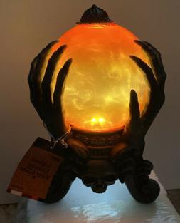 "HALLOWEEN Water SNOW globe SWIRLING Lighted  SMOKE 8 3/4"""