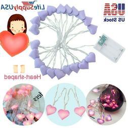 Heart-shaped LED Light String Bedroom Light Children's day D