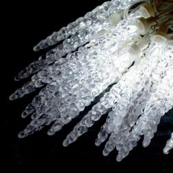 ALEKO HL50IC25CWH Crystal Cluster Icicle 50 Lights 25 Foot C