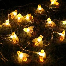 Honeybee Fairy String Lights,ER CHEN 10Ft 20 LED Honeybee Ba