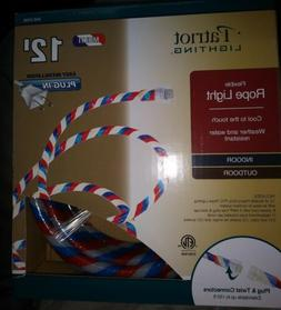 Patriotic Red White and Blue Indoor Outdoor Rope Light 12 Fe