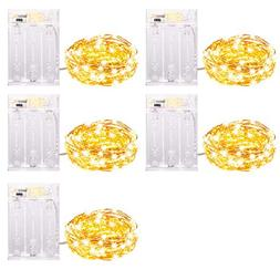 Improved Design with Timer Set of 5 Micro LED 20 Warm White