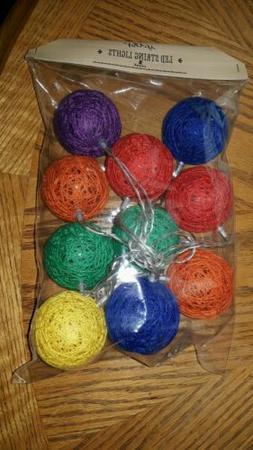 Indoor LED String Lights 10 Piece Multi Colored String Set