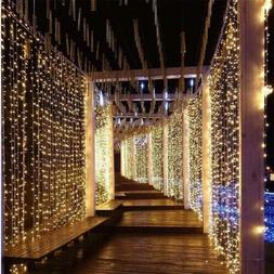 Indoor/Outdoor 300LED String Fairy Curtain Lights for Party