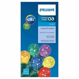 Philips Indoor Outdoor Multi Color LED Faceted Sphere String