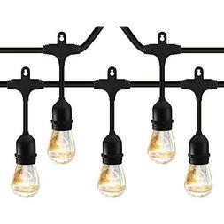 Classyke 2-Pack 48ft Indoor Outdoor String Lights for Patio