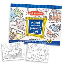 Jumbo Coloring Pad in Blue