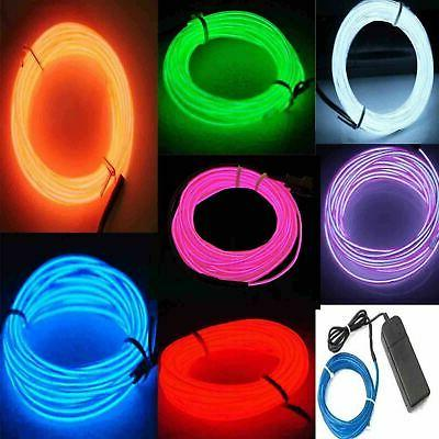 1-5M Battery Operated Luminescent Neon LED Lights Glow EL Wi
