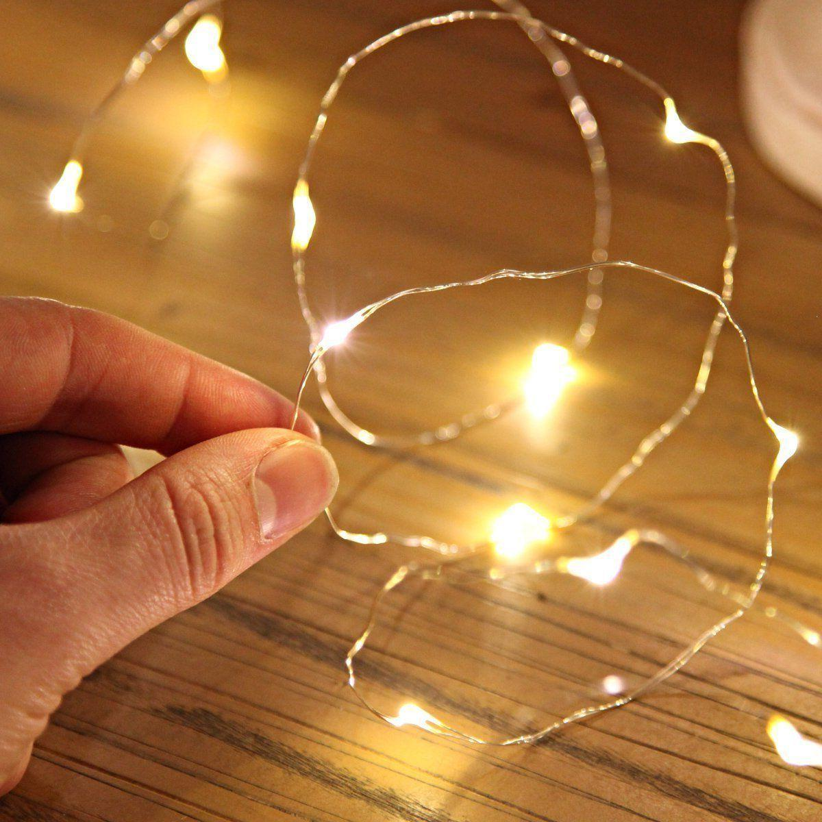 10-100 LEDs Christmas AA Battery Copper Wire String Lights P