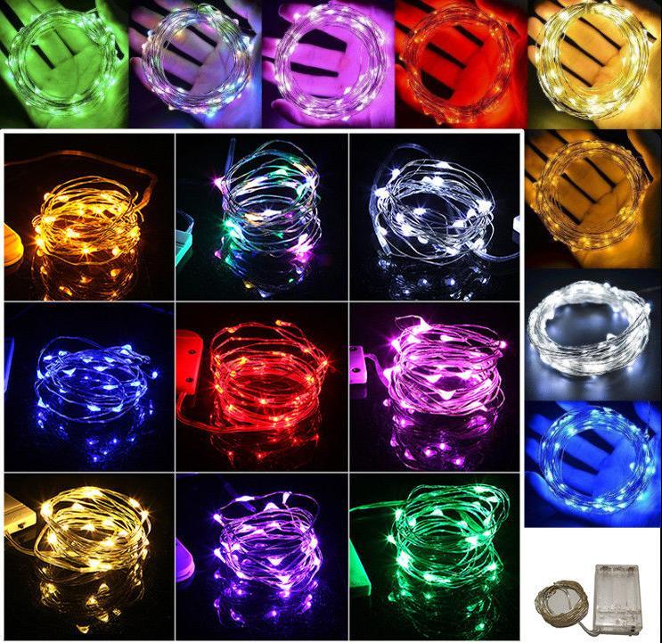 100 LEDS Christmas Lights Copper Mini Light Home Decor Battery