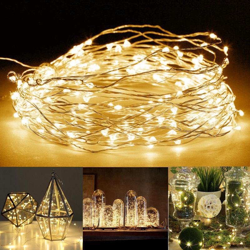 100 LEDS Christmas Lights Copper Mini LED String Light Home