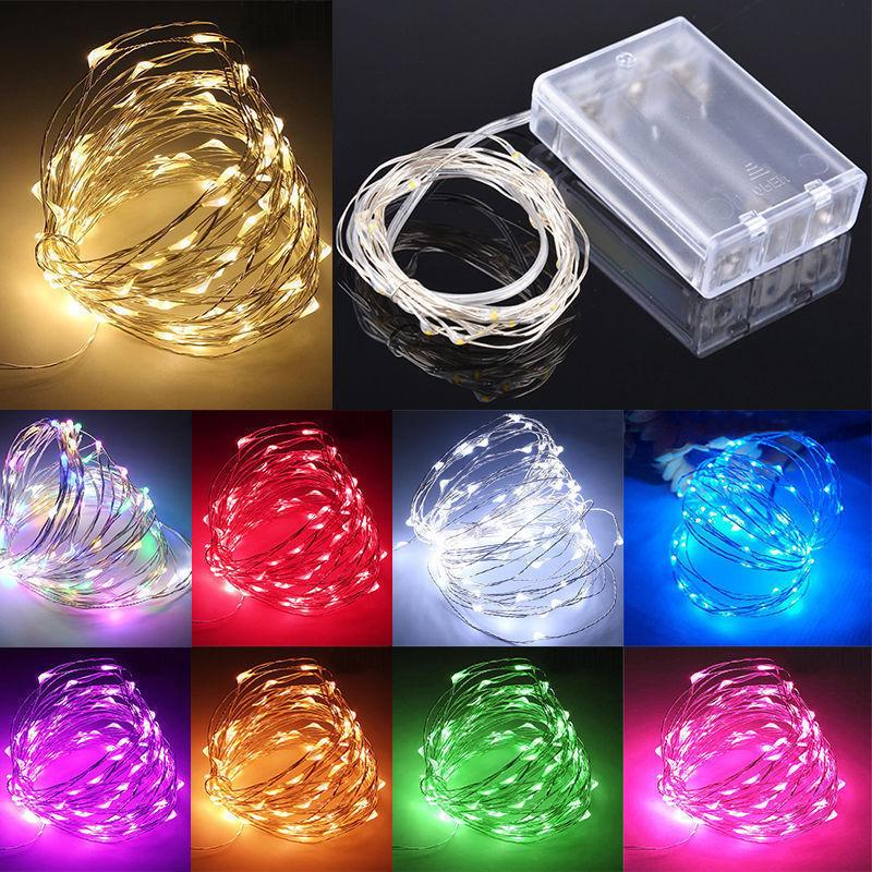 10/20/30/50/100 LED Fairy String Lights Copper Wire Battery
