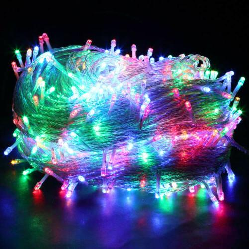 10-500LED String Fairy 10-100M Plug 110V Christmas Weding Party Outdoor