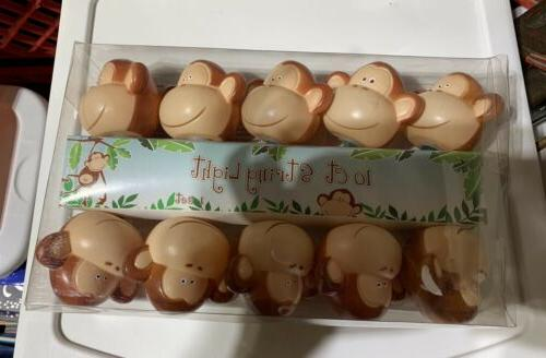 10 count monkey party lights new animal
