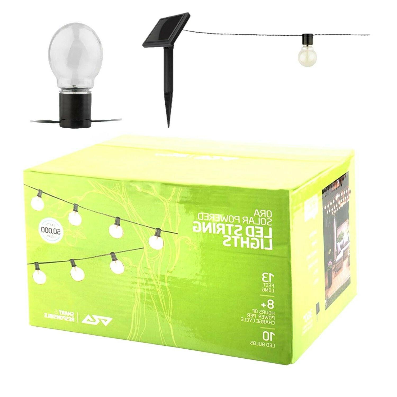 10 led solar powered string lights