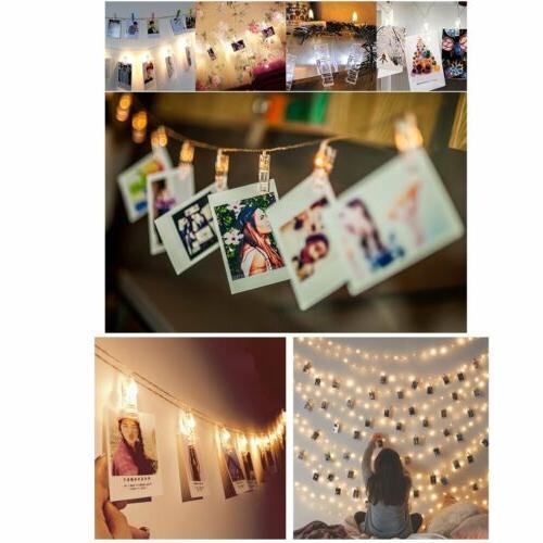 10 Lights Photo Clips Bedroom New