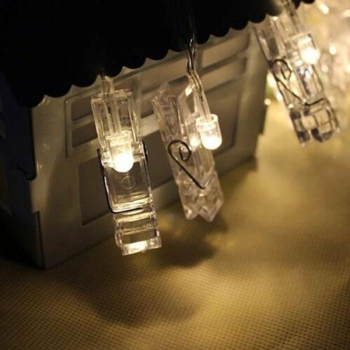 10 String Lights Photo Clips for New