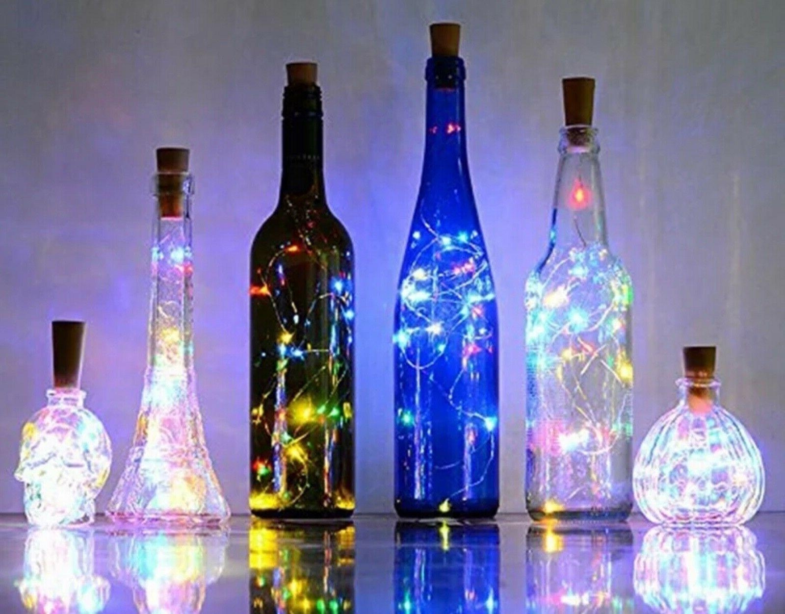 5/ 10pc Fairy String LED Battery Cork Party Wedding