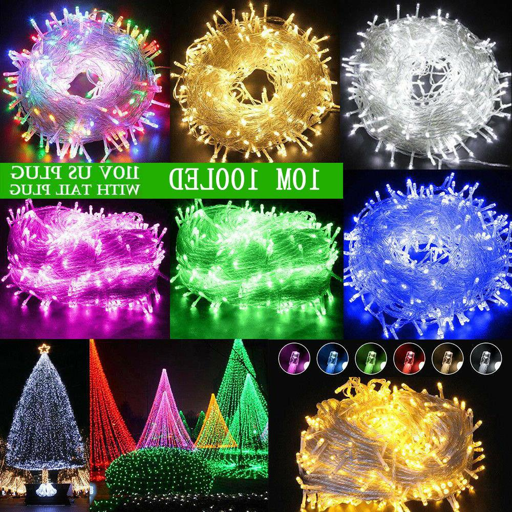 100 1000led christmas fairy string lights outdoor
