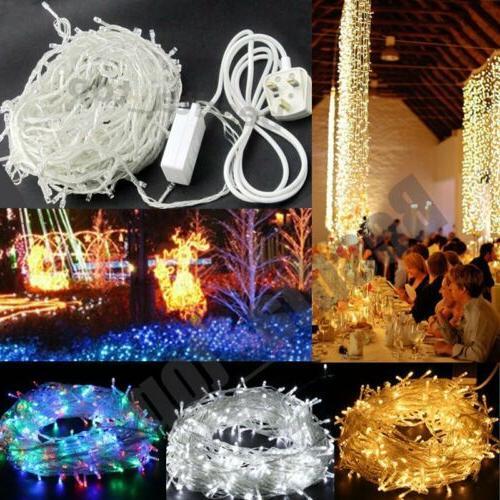 100/200/500/1000 String Lights Plug Party White/RGB