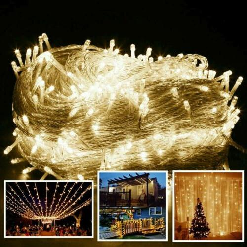100/200/500/1000 LED String Lights Party Warm