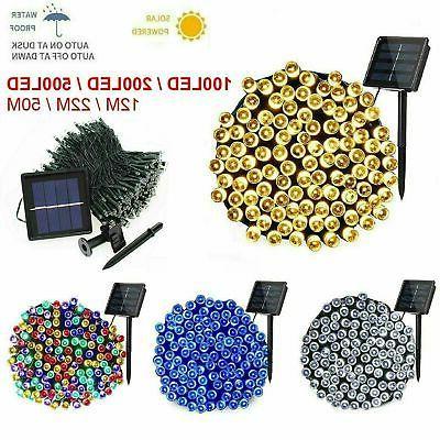 100 200 500 led solar string lights