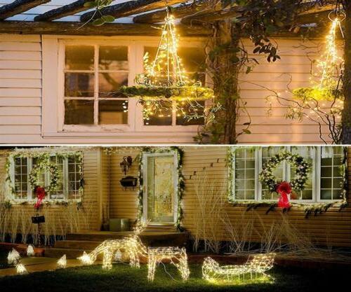 100/200 LED Solar Fairy Light Garden Waterproof