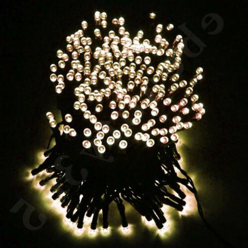 105ft 300 LED Solar String Lights Fairy Waterproof For Outdo