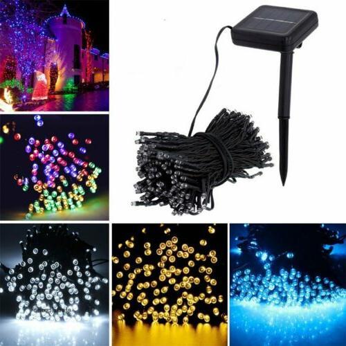 100 200 led solar string fairy lights