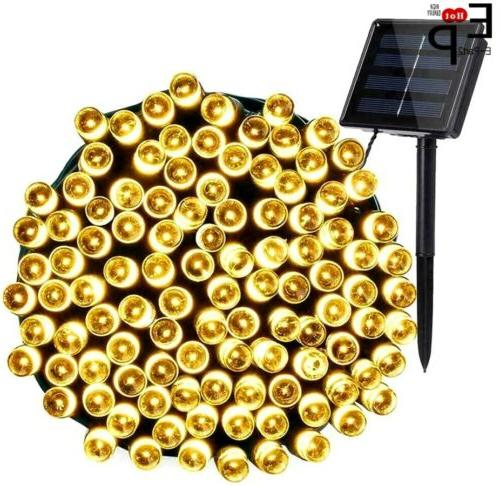 100-200 LED Solar Xmas Wedding Lamp