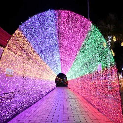 100 500 led string light outdoor garden