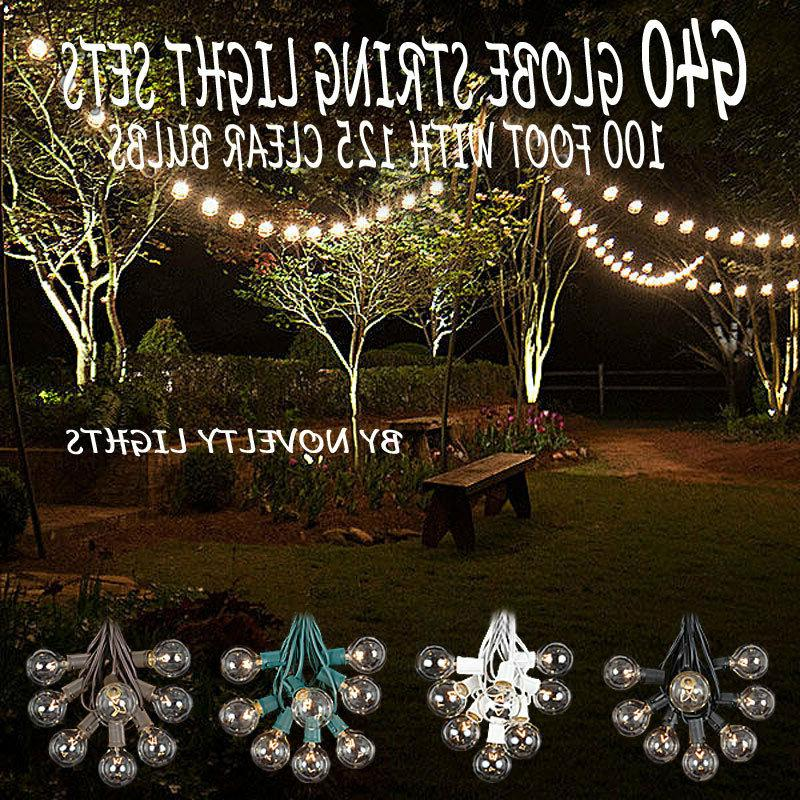100 Foot Outdoor Globe Patio String Lights - Set of 125 G40