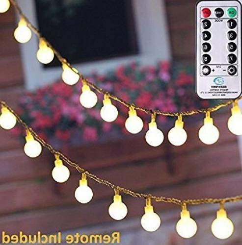 100 globe string lights
