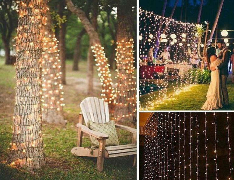 100 LED 10M Christmas Tree String Lights Waterproof Lamp