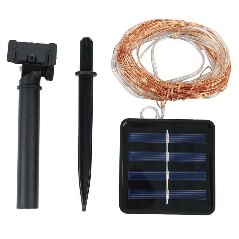 100 10M Solar String Lights Portable Wire Fairy Light