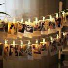 100 LED Clip Fairy String Light Lamp Picture Photo Hanging W