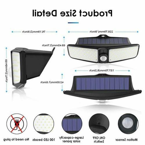 100 LED Detector Solar Spot Motion Sensor Outdoor