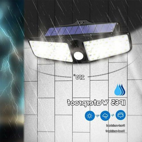 100 led dual security detector solar spot