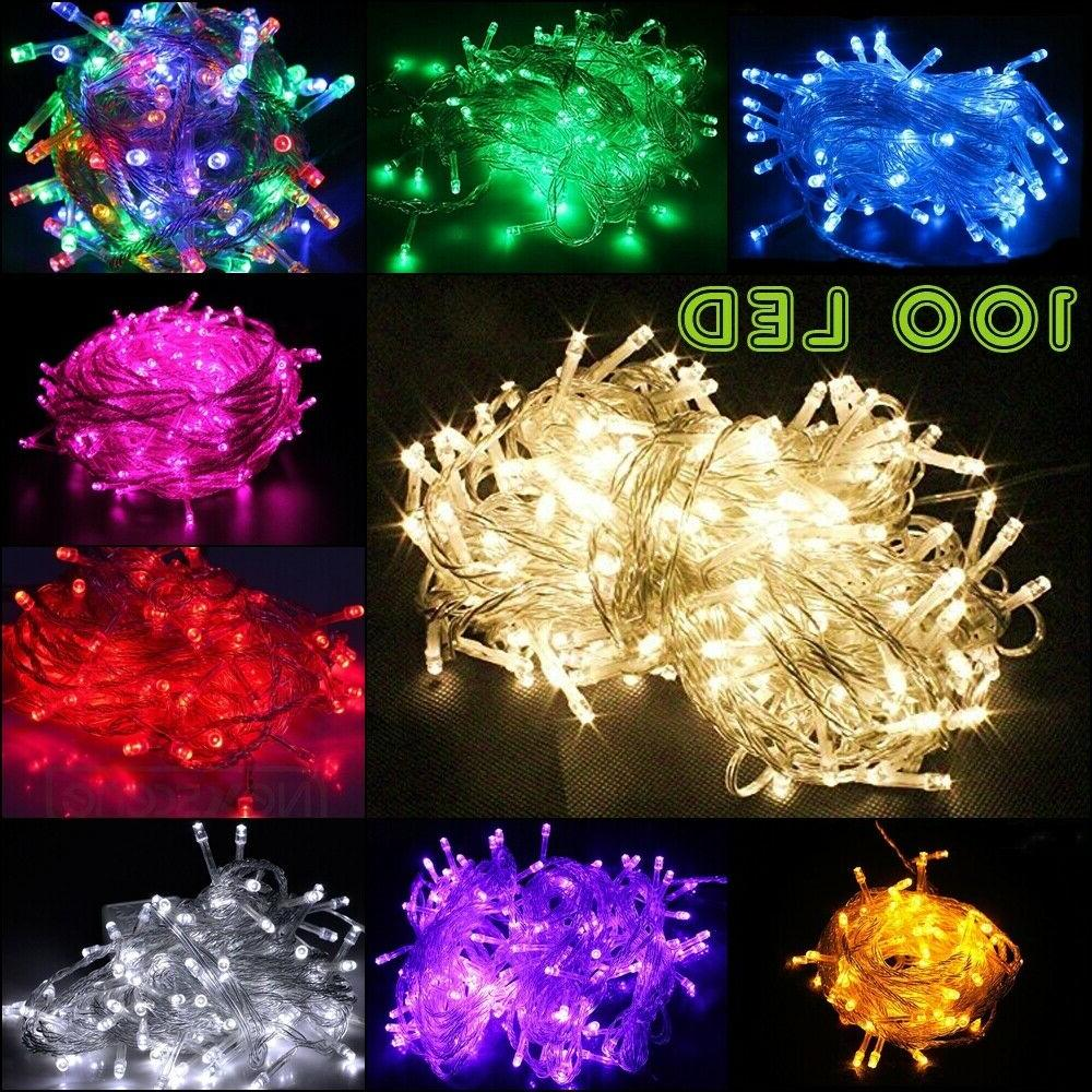 100 led string fairy lights clear wires
