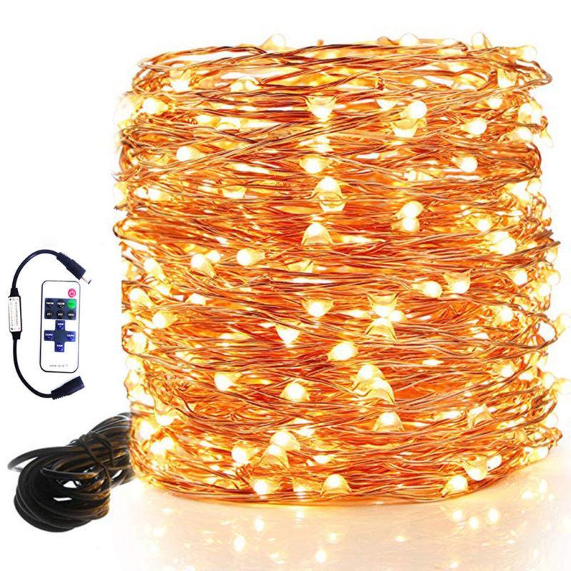 100 led string lights electric plug in