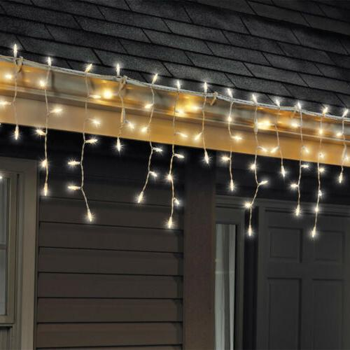 Celebrations 100 Led Mini Icicle-Style Light String Warm Whi