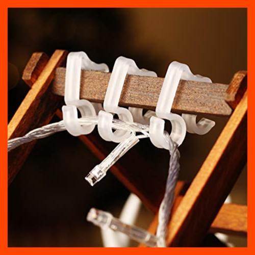 100 Light Clips Gutter Hang Hooks For WHITE