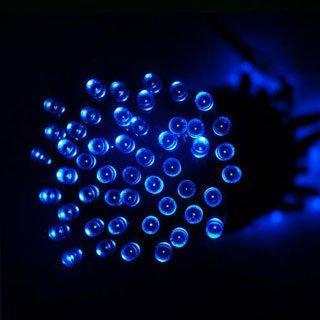 100ledblue solar powered decorating string