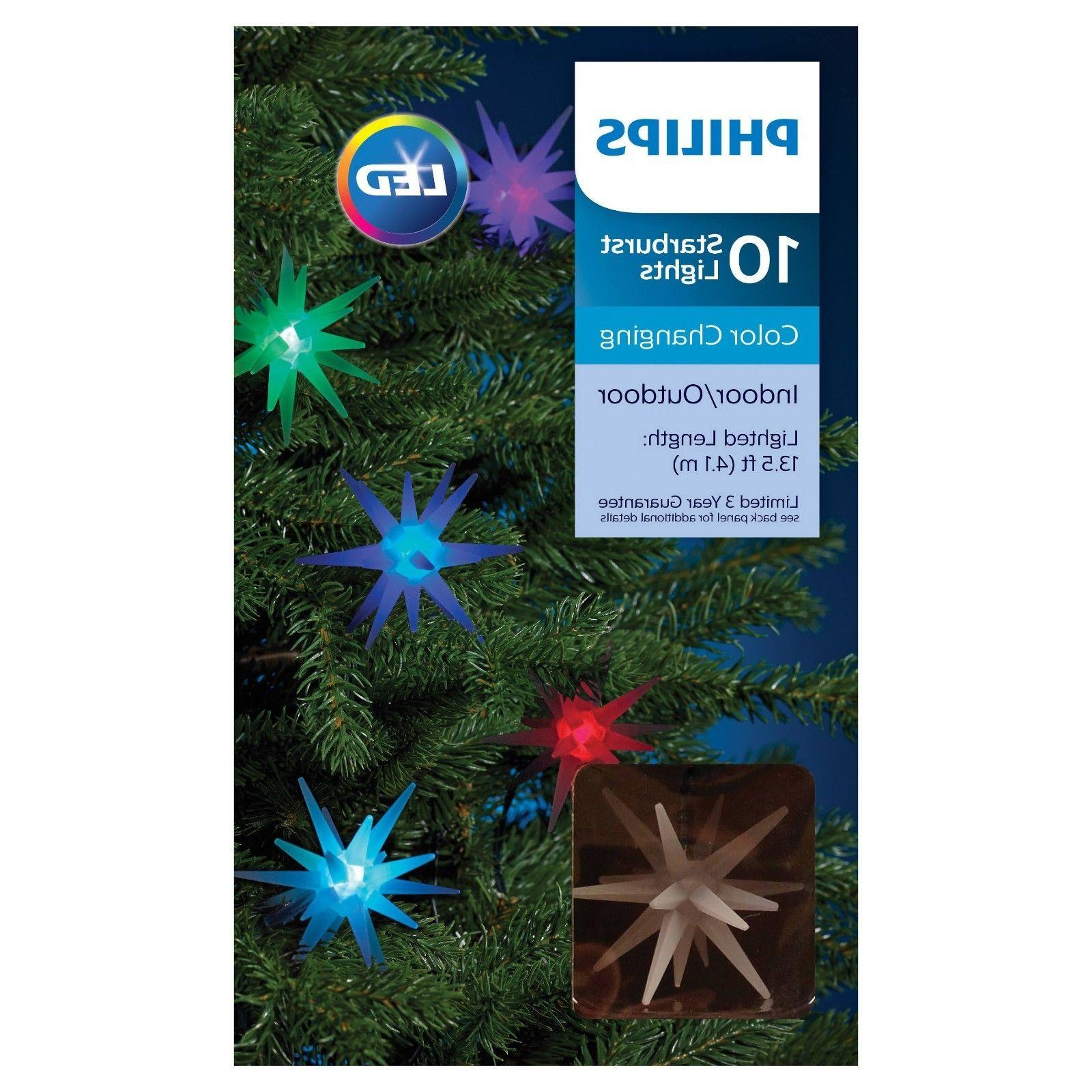 10ct christmas led frosted starburst string lights