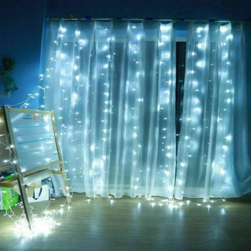 10ft LED Window Curtain Icicle Lights Decor