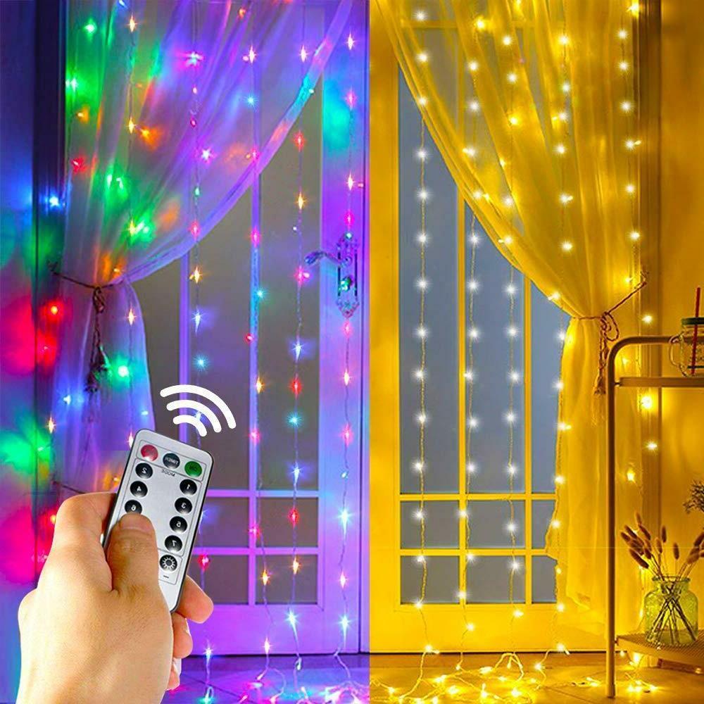 10ft 300 led xmas window curtain icicle