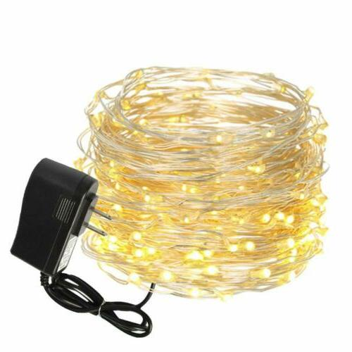 33FT 100Led Fairy String Lights Copper Wire Lamp White/Blue
